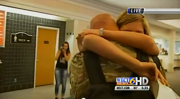 Army wife surprises soldier husband with weight loss