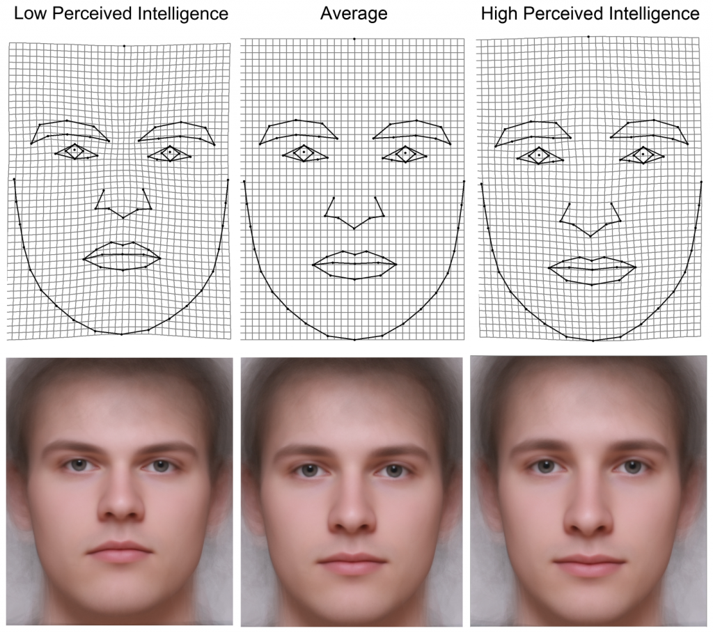 Men's facial features predict IQ