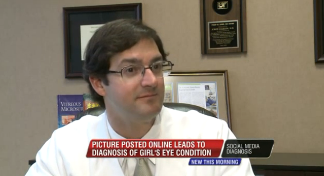 Facebook photo post leads to social media diagnosis of rare eye disease