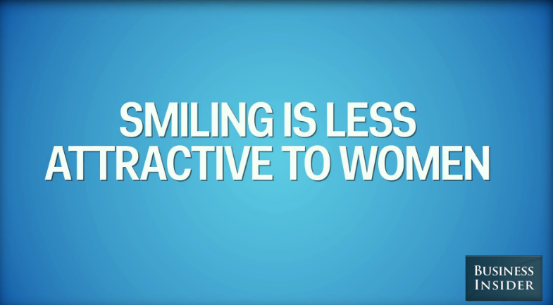Smiling is less attractive to women