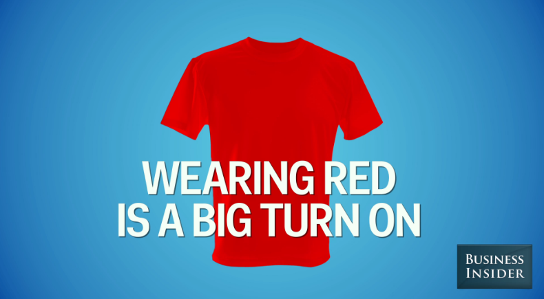 Wearing red is a big turn on