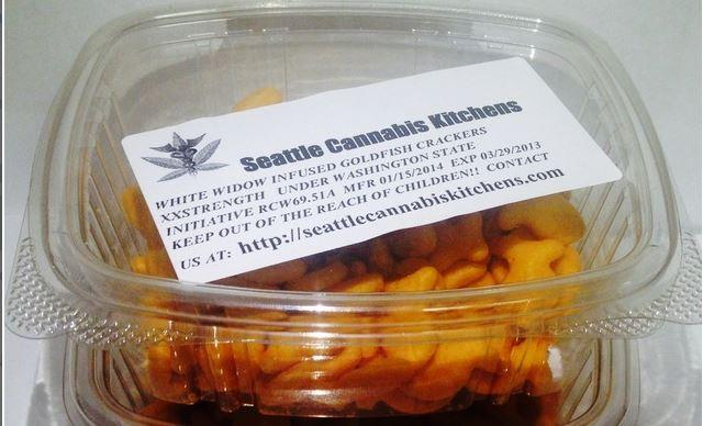 Seattle's Cannabis Kitchen Gold Fish Crackers