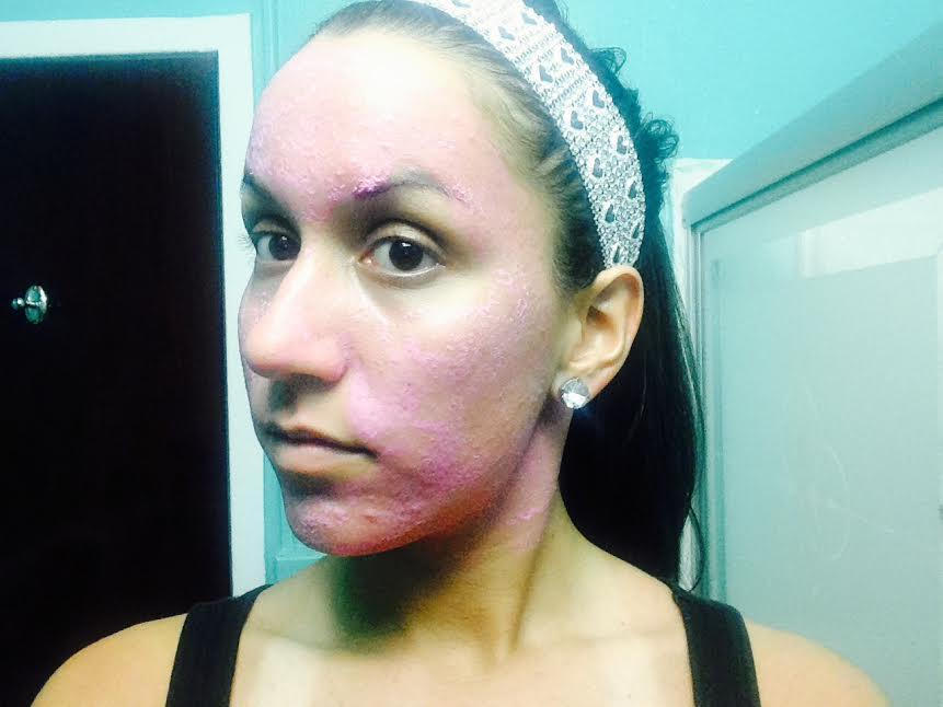 Pepto-Bismol Face Mask