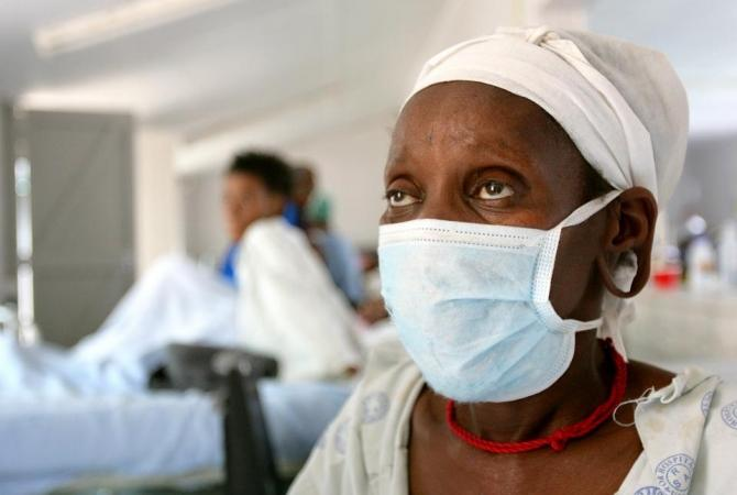A patient who tested positive for extreme drug resistant tuberculosis (XDR-TB) awaits treatment at a rural hospital at Tugela Ferry in South Africa's impoverished KwaZulu Natal province.