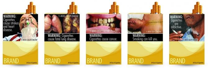Combination picture of new graphic cigarette packages, released by the U.S. Food and Drug Administration June 21, 2011.