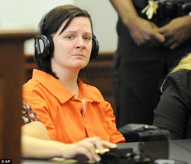Kathy Michelle Coy at an earlier hearing has been sentenced on Thursday to life without parole for murder and fetal abduction.