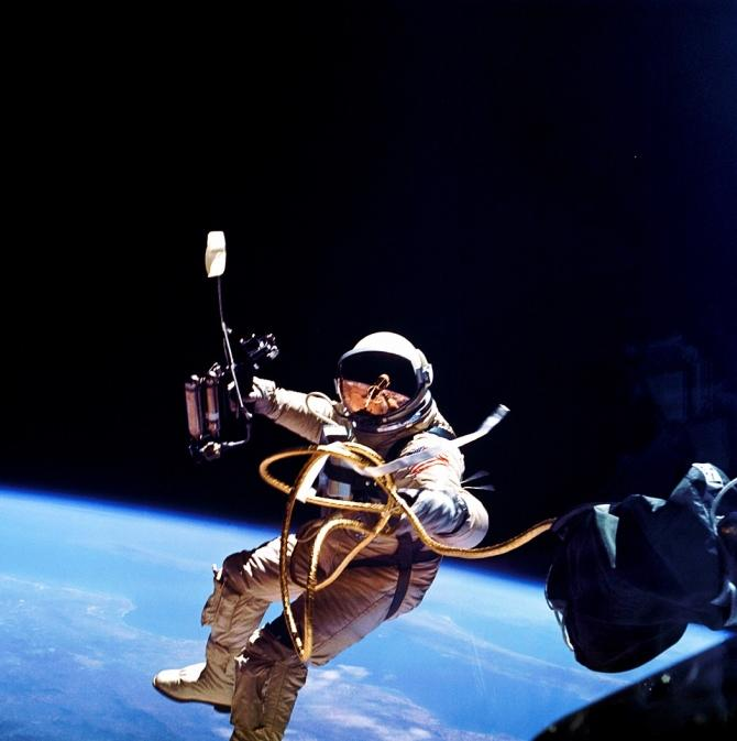 Astronaut Ed White became the first American to walk in space on June 3, 1965.