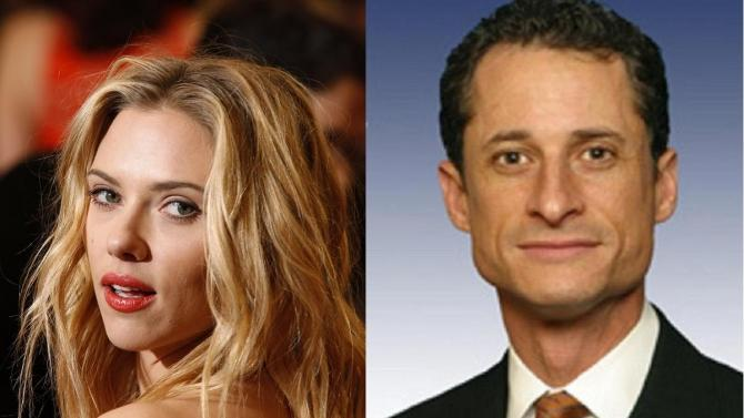 Both Scarlett Johansson to Congressman Anthony Wiener have been caught sexting naked pictures of themselves.