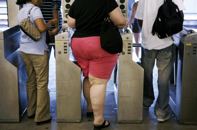 obese overweight subway