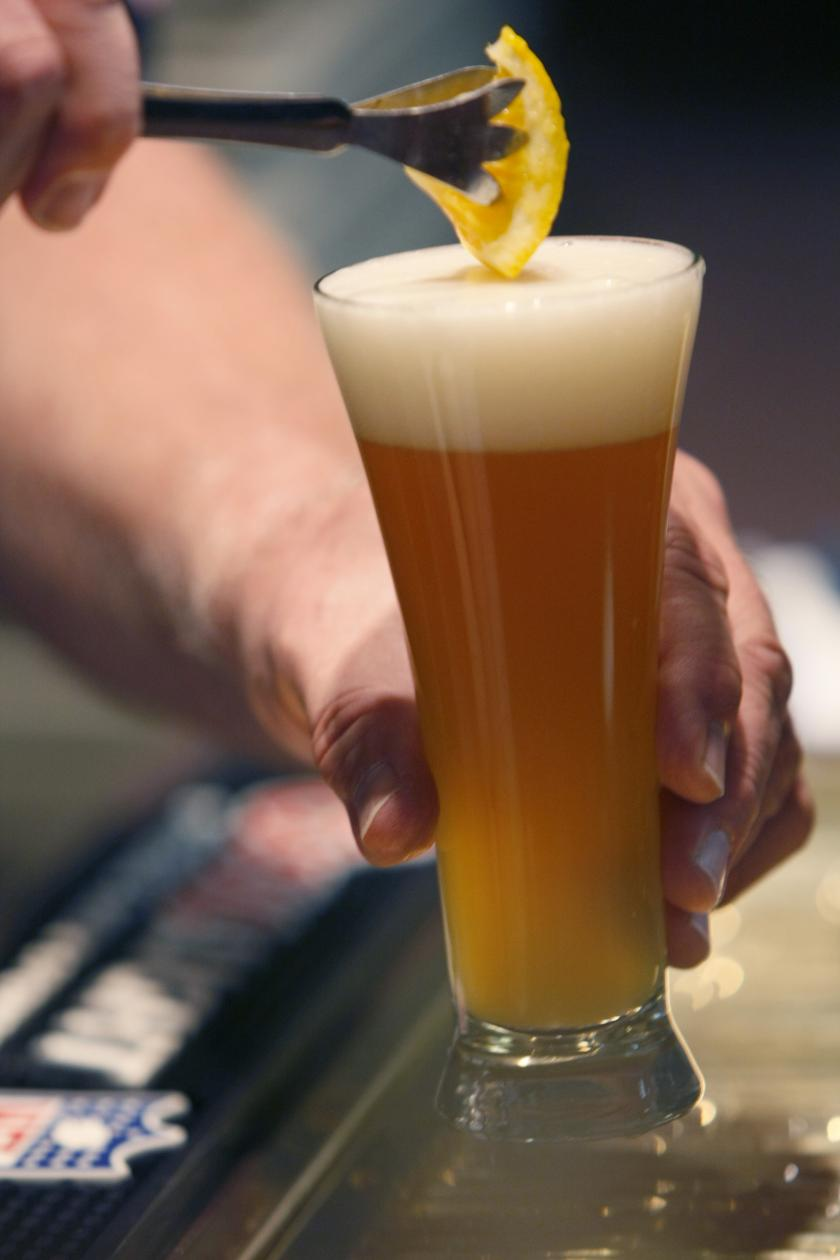 beer fluted glass