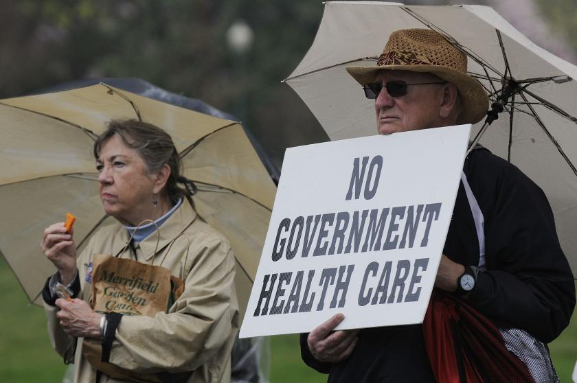 Tea Party Patriots rally calling for the repeal of the Obamacare