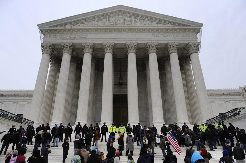 U.S. Supreme Court building, January 20, 2012