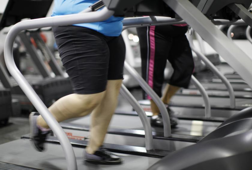 people jog on a treadmill during a workout at a gym