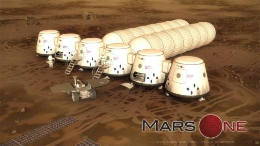 Digital Rendering of the Mars One Mission