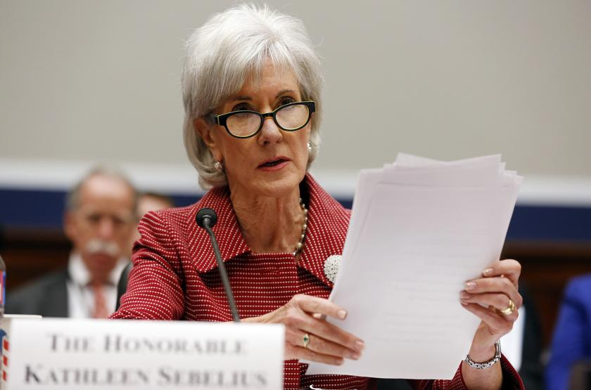 HHS Secretary Kathleen Sebelius speaking about Sarah Murnaghan's lung transplant