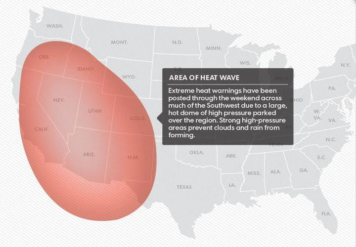 Heat Wave To Hit The Western US Could Be Record Breaking