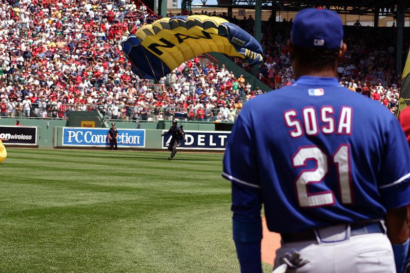 Sammy Sosa in Chicago Cubs uniform