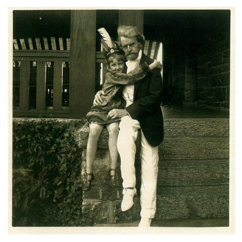 Huguette Clark with her father