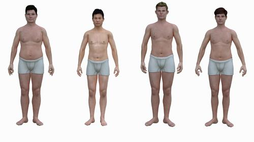 Renderings Of Body Types In Different Countries