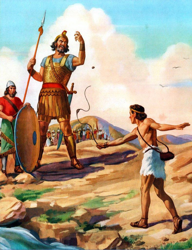 Painting of David and Goliath