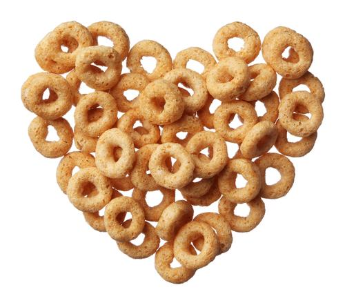 Cheerios cereal heart