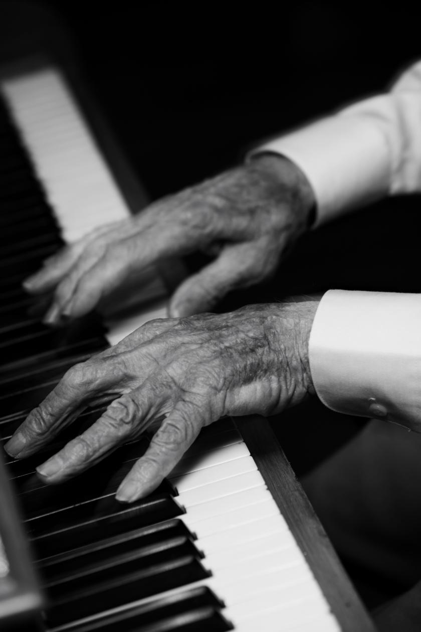 shutterstock photo of old piano player