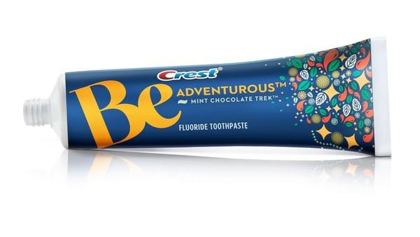 Crest's Mint Chocolate Trek toothpaste