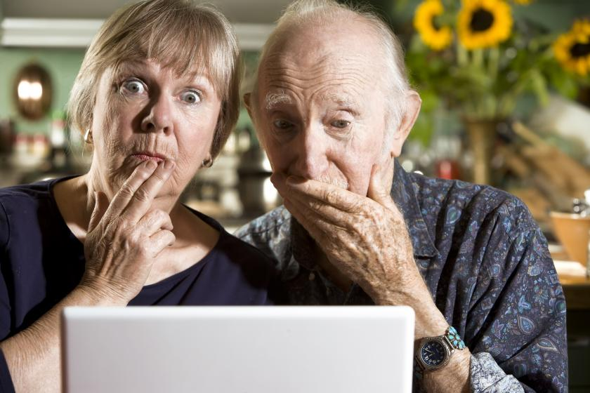 Old people accidentally seeing porn