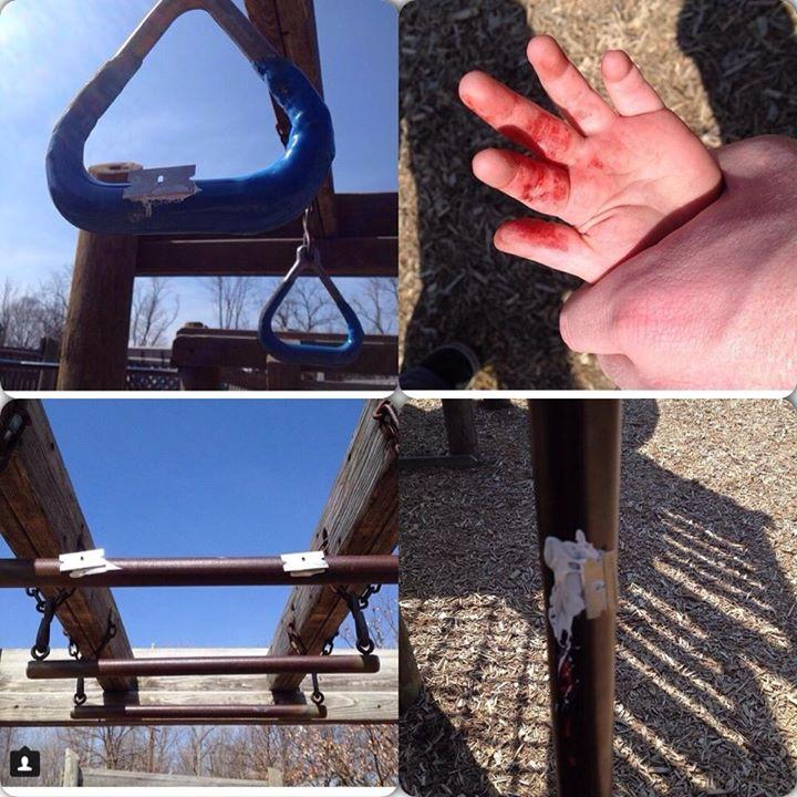 Razor Blades in Playgrounds