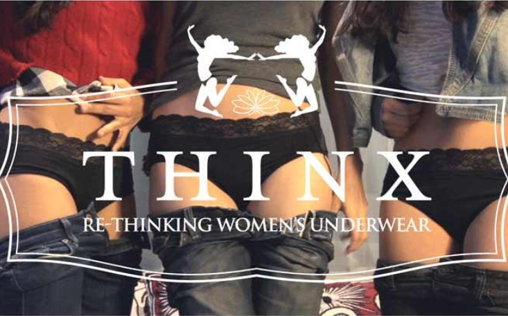 Thinx period panties absorbs up to 6 teaspoons of liquid