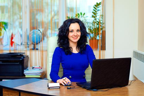 Business woman working in office