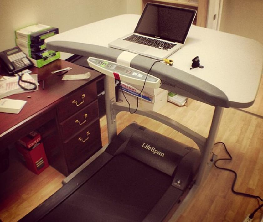 treadmill on running woman fat