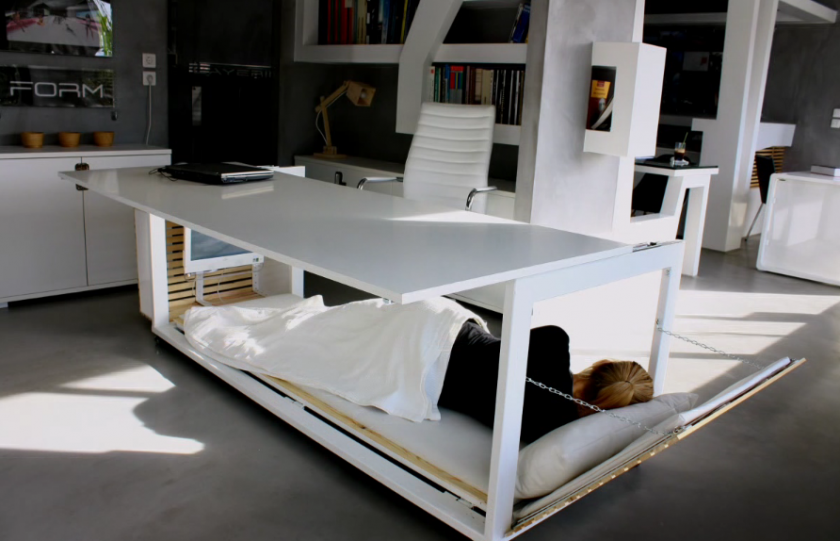 Studio NL A Greek Architecture Firm Created Bed Desk Hybrid The Health Benefits Of Napping At Work