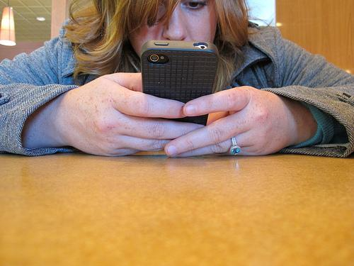 video college babes caught texting class