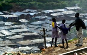 Nairobi's Kibera district, largest slum in the world