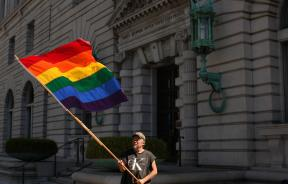 Courthouse in San Francisco, California, gay rights, Bob Sodervick