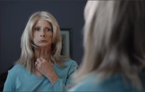 Screenshot from a 2012 anti-smoking TV ad, produced by the CDC.