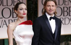 Angelina Jolie and Brad Pitt at the 69th annual Golden Globe Awards