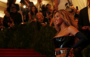 """Singer Beyonce arrives at the Metropolitan Museum of Art Costume Institute Benefit celebrating the opening of """"PUNK: Chaos to Couture"""" in New York"""