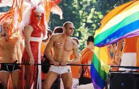 Clone of LGBT parade in Madrid