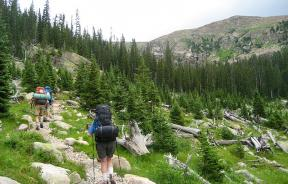 Hikers on the North Inlet Trail