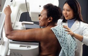 Mammogram screening for breast cancer