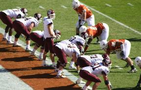 College football game between University of Texas at Austin and Texas A&M University