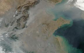 Pollution over east China, NASA