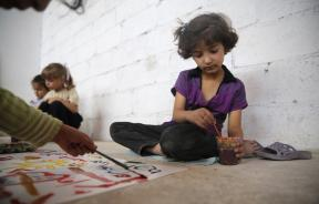 Syrian child who lost 3 family members