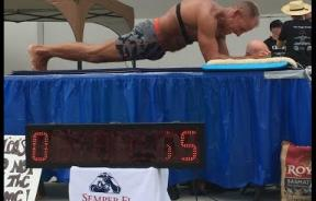 Former Marine George Hood Breaks World Record After Holding Plank For More Than 5 Hours