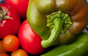 Sweet peppers and tomatoes