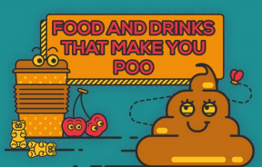 Foods and drinks that make you poop