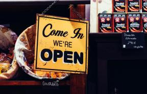 store open sign